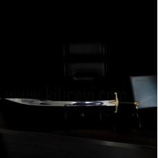Kurtbaşlı Oluklu Türk Kılıcı